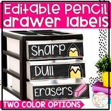 Pencil Drawer Labels *Editable*