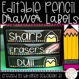 Pencil Drawer Labels *Editable*