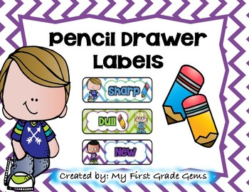 Pencil Drawer Labels-Free!