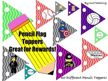 Pencil Flag Toppers