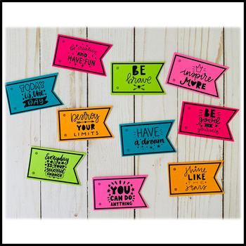 Pencil Flags {Inspirational Messages - Set 2}