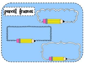Pencil Frames Clip Art