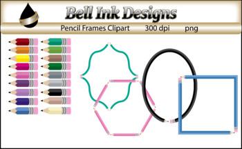Pencil Frames Clipart