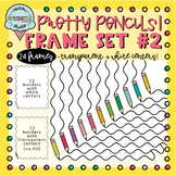 Pencil Frames and Borders Clipart 2  {pencil borders clipart}