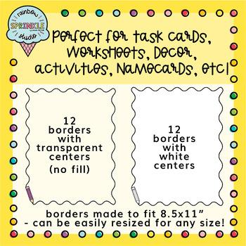 Pencil Frames and Borders Clipart 2  {pencil borders clipart}