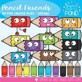 Pencil Friends Clipart Set