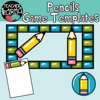 Game Clipart Templates, Pencils