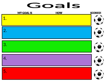 Pencil Goals sheets
