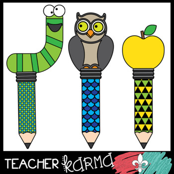 Pencil Graphics - FUN Toppers Clipart BUNDLE