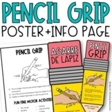Pencil Grip Parent Info Sheet and Poster