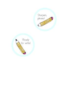 Pencil Holder Labels
