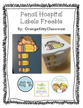 Pencil Hospital Freebie