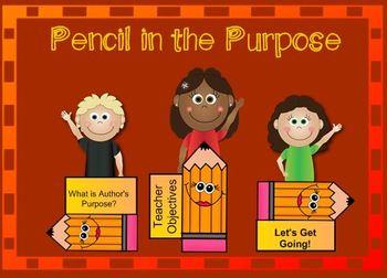 Pencil In the Purpose (Partial Free Version) **Freebie!**