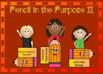 Pencil In the Purpose (Author's Purpose)