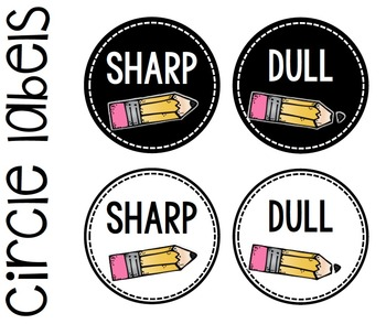 Pencil Jar Labels