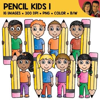 Pencil Kids Clipart 1