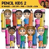 Pencil Kids Clipart 2