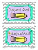 Pencil Labels - Sharpened and Unsharpened (3 Colors)