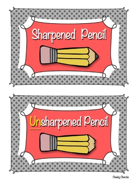 Pencil Labels - Sharpened and Unsharpened