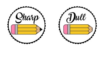 Pencil Label - Sharp and Dull
