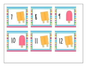Popsicle Calendar Cards