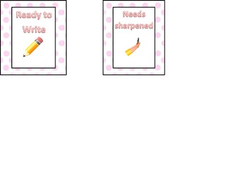 Pencil Labels (Pink and White Polka Dot Theme)