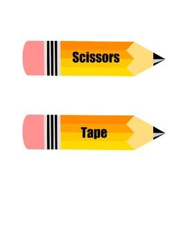 Pencil Labels Back To School FREEBIE