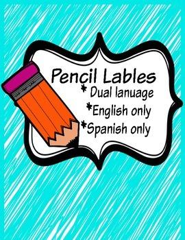 Pencil Labels- Dual Language