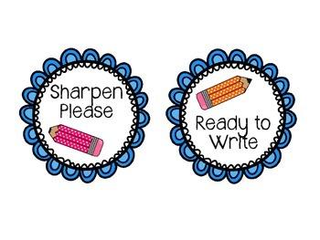 Pencil Labels *Freebie*
