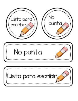 Pencil Labels/ Lapices