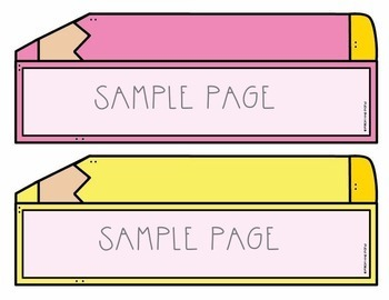 Pencil Labels for the Classroom {Editable}