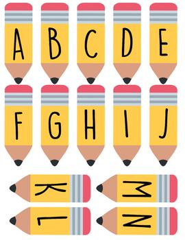 Pencil Letter Decorations