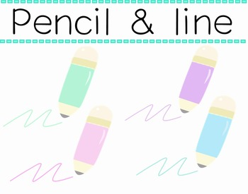 Pencil & Line in pastel color