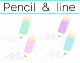 Pencil & Line in pastel color