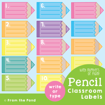 Pencil List - Labels / Posters for the Classroom {Editable}