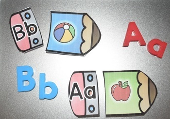 Pencil Match {Alphabet Sounds Center}