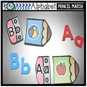 Alphabet Activity Center {Pencil Match}