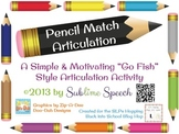 Pencil Match Articulation - Freebie