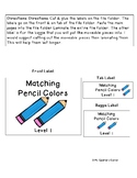 Pencil Matching - File Folder