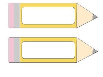 Pencil Name Plates