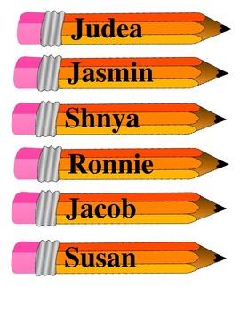 Pencil Name Tags