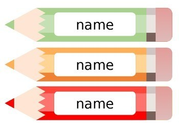 Pencil Name Tags
