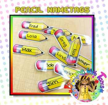Pencil Nametag Templates