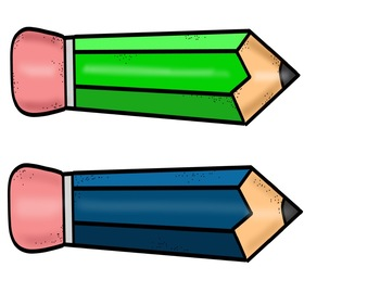 Pencil Nametags for Desks! Editable! 4 colors!