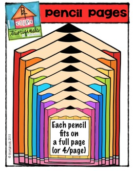 Pencil Pages {P4 Clips Trioriginals Digital Clip Art}