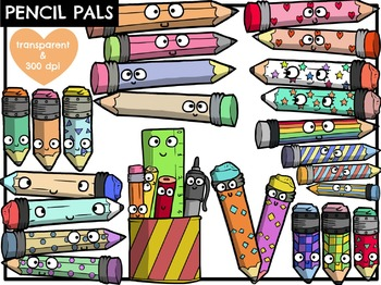 Pencil Pals (Digital Clip Art)