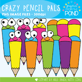 Crazy Pencil Pals Clipart