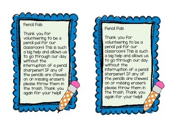 Pencil Pals Note