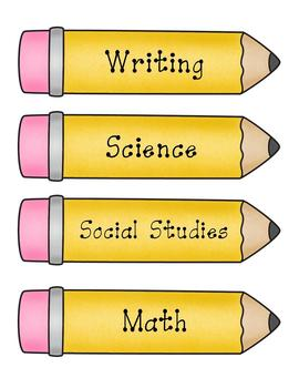 Pencil Pointers Classroom Labels