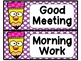 Pencil Polka Dot Schedule Cards